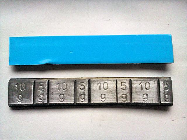 貼り付けウェイト 鉛(青)5g/10g刻み 24kgの画像