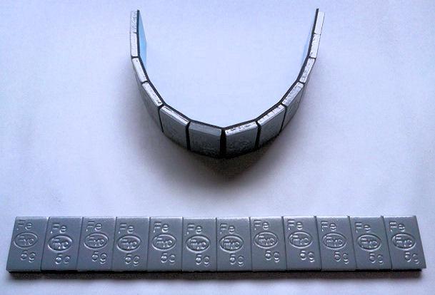 【鉄製】貼り付けウェイト5g刻み(コーティング) 24kgの画像