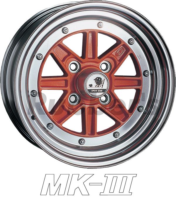 SSR SPEED STAR(スピードスター) MK-III 15×8.5J 4H PCD100/110/114.3の画像
