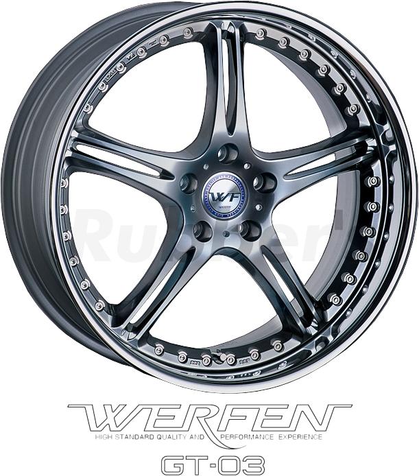SSR WERFEN(ヴェルフェン) GT-03 20×7.5J 5H PCD114.3/112/120の画像