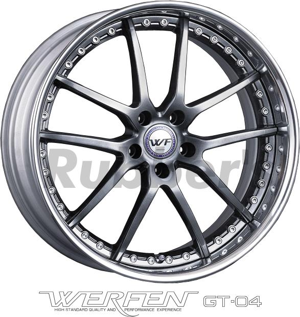 SSR WERFEN(ヴェルフェン) GT-04 20×7.5J 5H PCD114.3/112/120の画像